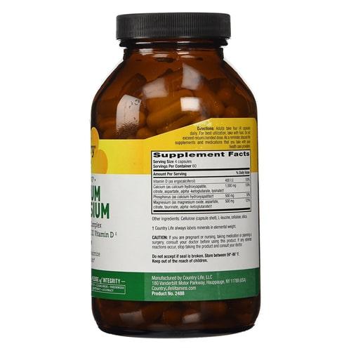 Country Life Calcium Magnesium Supplements New York