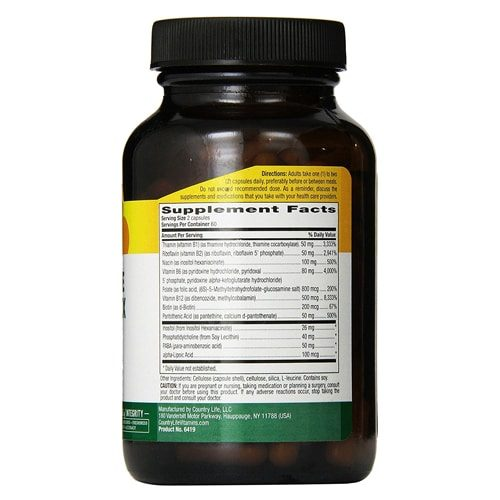 Country Life Coenzyme B Complex New York