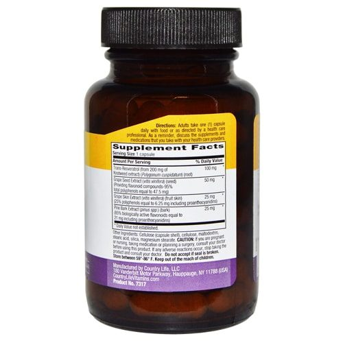 Country Life Resveratrol Plus Supplement New York