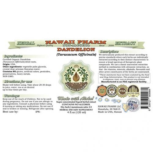 Dandelion Liquid Extract New York